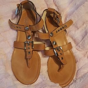 Coach strappy size 8 sandals